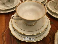 12 cups 14 saucer 3 Plate JLMenau Von Henneberg Edelweiss Porcelain Coffee Set