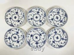 12x Cups & Saucers #719 Blue Fluted Royal Copenhagen Half Lace
