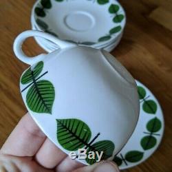 14 pcs Gustavsberg Sweden BERSA Stig Lindberg Vintage 5 Cups & 9 Saucers