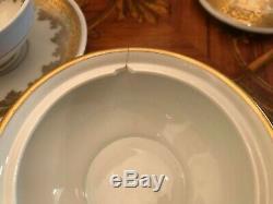16 Cups 16 Saucers Set Rare KPE Kalk Eisenberg Gold Germany Porcelain Coffee Set