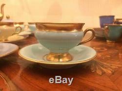 18 Cup 18 Saucer Set Vintage KPM Danish Copenhagen Porcelain Maleri Coffee Tea