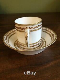 18th Century Leboeuf Porcelaine de la Reine Paris Louis XVI Coffee Cup Saucer M