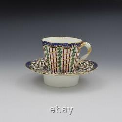 18th Century Sevres Porcelain Trembleuse Cup & Saucer Hop Trellis