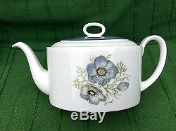 1950s Susie Cooper Glen Mist porcelain teapot, 6 cups & saucers before Wedgwood