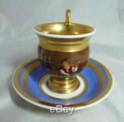 19th Century Paris Porcelain Tea Cup & Saucer A678217