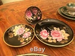 2 Cup 2 Saucer 2 Dishes Set Rare RW Rudolf Wacther Bavaria Porcelain Tea Coffee