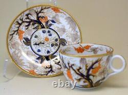 220-yr-old New Hall, Staffordshire, English porcelain tea-cup & saucer 1798-1805