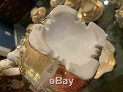 30pc Old Paris Porcelain Gold Tea Set Desert Service Cups/Saucers Plates Antique