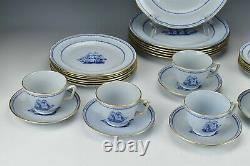 30pc Spode Trade Winds Blue Service for 6 Dinner Set Salad B&B Plates Cup Saucer