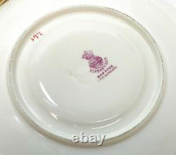 4 Minton England for Tiffany Porcelain Coffee Cup & Saucers Leaf & Vines