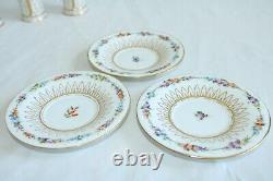 4 Vintage Richard Klemm Dresden Porcelain Cup & Saucer Sets (8 Pcs) RARE