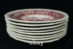 50 pcs SPODE China TOWER PINK Dinner PLATES Cups SAUCERS Porcelain SERVES 10