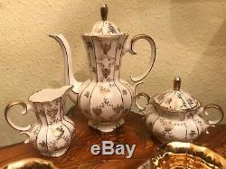 6 Cup 6 Saucer 1 Pot 1 Sugar 1 Milk Vintage Kueps Bavaria Porcelain Coffee Set
