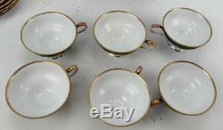 6 RW Bavaria Rudolph Wachter Porcelain Tea Cups & Saucers