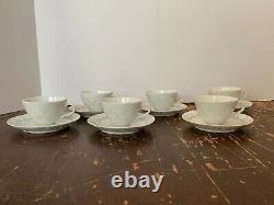 6 Vintage FRIEDL HOLZER-KJELLBERG Arabia Finland Rice Porcelain Cup and Saucer