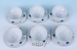 6 Vintage Rosenthal RHAPSODY CUPS & SAUCERS German Porcelain Romance Tea Flowers
