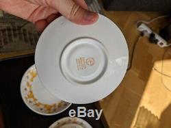 6 pcs Vintage Gustavsberg Jasmin Margareta Hennix 2 cups, 2 saucers, 2 plates
