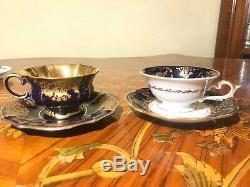 9 cups 9 Saucer Mixed German Bavaria Danish Royal Copenhagen Coffee Set