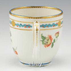 A Chelsea Gold Anchor Period Porcelain Coffee Cup and Saucer c1765