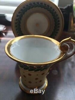 ANTIQUE RUSSIAN IMPERIAL BATENIN FACTORY Or Old Paris Porcelain Set