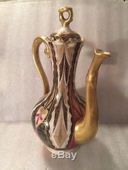 Alhambra Royal Vienna Austria Porcelain Coffee Pot with5 Demi Cups & Saucers