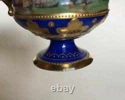 Ambrosius Lamm Dresden Porcelain Demitasse Cabinet Cup & Saucer Finely Painted