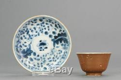 Antique 18-19C Chinese Porcelain Tea Bowl Cup Saucer Batavian Colourzh