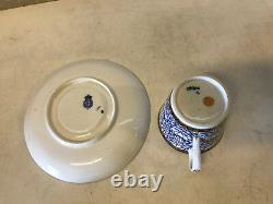 Antique 18th / 19th Century Worcester Royal Lily Pattern Porcelain Cup & Saucer