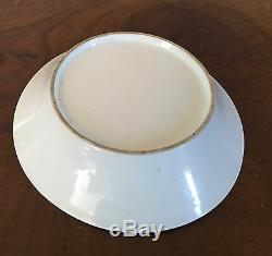 Antique 18th century German Porcelain Tea Saucer Dish Faux Marble Porphyry Stone