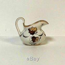 Antique 19th C Popov Moscow Russian Porcelain Manufacturer Mini Pitcher Creamer
