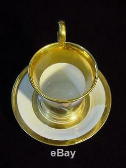 Antique 19th. Century RUSSIAN PORCELAIN PORTRAIT CABINET CUP & SAUCER