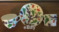 Antique 19th c. Coalport Porcelain Trio Tea Cup Coffee Can & Saucer 1810 Imari 2