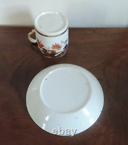 Antique 19th c. Regency Spode Imari Porcelain Tea Cup & Saucer Coffee Can 967