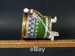 Antique 19thC KPM Thuringer Porcelain Biedermeier Cup & Saucer C. 1820 Unmarked