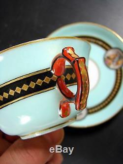 Antique 19thC Mace for Sevres Porcelain decor Ottoman Cup & Saucer Porcelain Old