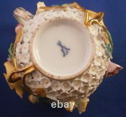 Antique 19thC Meissen Porcelain Schneeballen Cup & Saucer Porzellan Tasse German