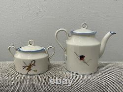 Antique Art Deco Gio Ponti for Richard Ginori Porcelain Tea Set w Cups & Saucers