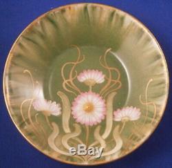 Antique Art Nouveau 19thC Nymphenburg Porcelain Cup & Saucer Porzellan Tasse