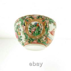 Antique Chinese Famille Rose Thin Porcelain Tea cup Saucer