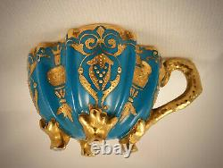 Antique Coalport Demitasse Cup & Saucer, Footed