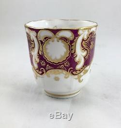 Antique Davenport Set Of Porcelain Demi Tasse Coffee Cups & Saucers (5 Pcs. Each)