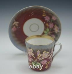 Antique Imperial Russia C1890 Kuznetsov Porcelain Cup And Saucer Set Gold 3