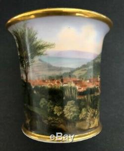 Antique Imperial Russian Porcelain Cabinet Cup and Saucer (Nikolas l)