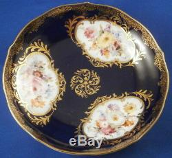 Antique Meissen Porcelain Cobalt Blue Scenic Cup & Saucer Porzellan Tasse Scene