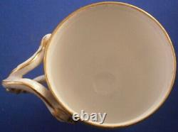 Antique Meissen Porcelain Letter M Snake Handle Cup & Saucer Porzellan Tasse