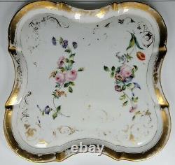 Antique Old Paris Porcelain Service For One Coffee Tea Set Pot Tray Cup Saucer