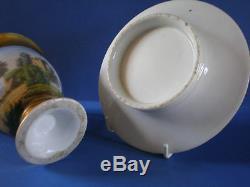 Antique Old Paris Porcelain (Vieux Paris) Cabinet Cup & Saucer
