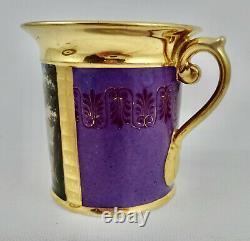 Antique Paris Porcelain Tea Cup & Saucer, Military
