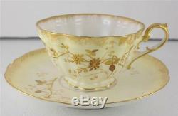 Antique Porcelain Bawo Dotter Elite Works Porcelain Cup Saucer Set Limoges SM MR