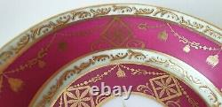 Antique Royal Vienna Style Porcelain Chocolate Cup & Saucer Classical Scenes